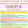 #FRESH 10 WINNER ANNOUNCEMENT: Congratulations Carley B!