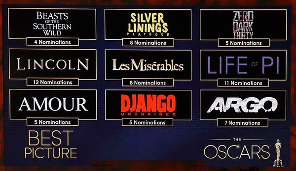 US-ENTERTAINMENT-OSCAR-NOMINATIONS