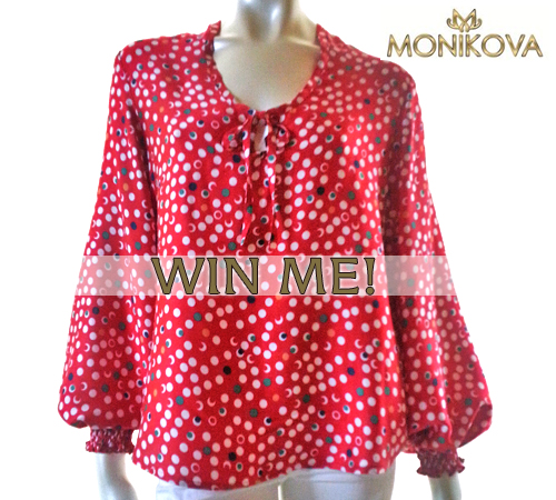 One lucky attendee will walk away with a brand new Monikova blouse!