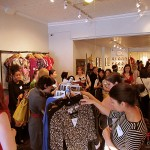 The store filled up with fashionable ladies all set to celebrate Earth Day with our Swap and Shop!