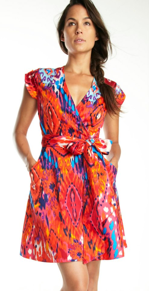 Wrap dress from Address Apparel