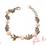 "Beautiful bird and rose bracelet from the ""Summer Romance"" collection by Sugar Rush"
