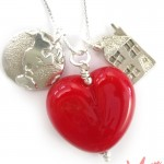 Gorgeous &quot;Heart is Home&quot; charm necklace from Sailorgirl - $69