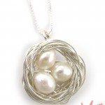 Handcrafted bird&#039;s nest necklace from Sailorgirl - $69
