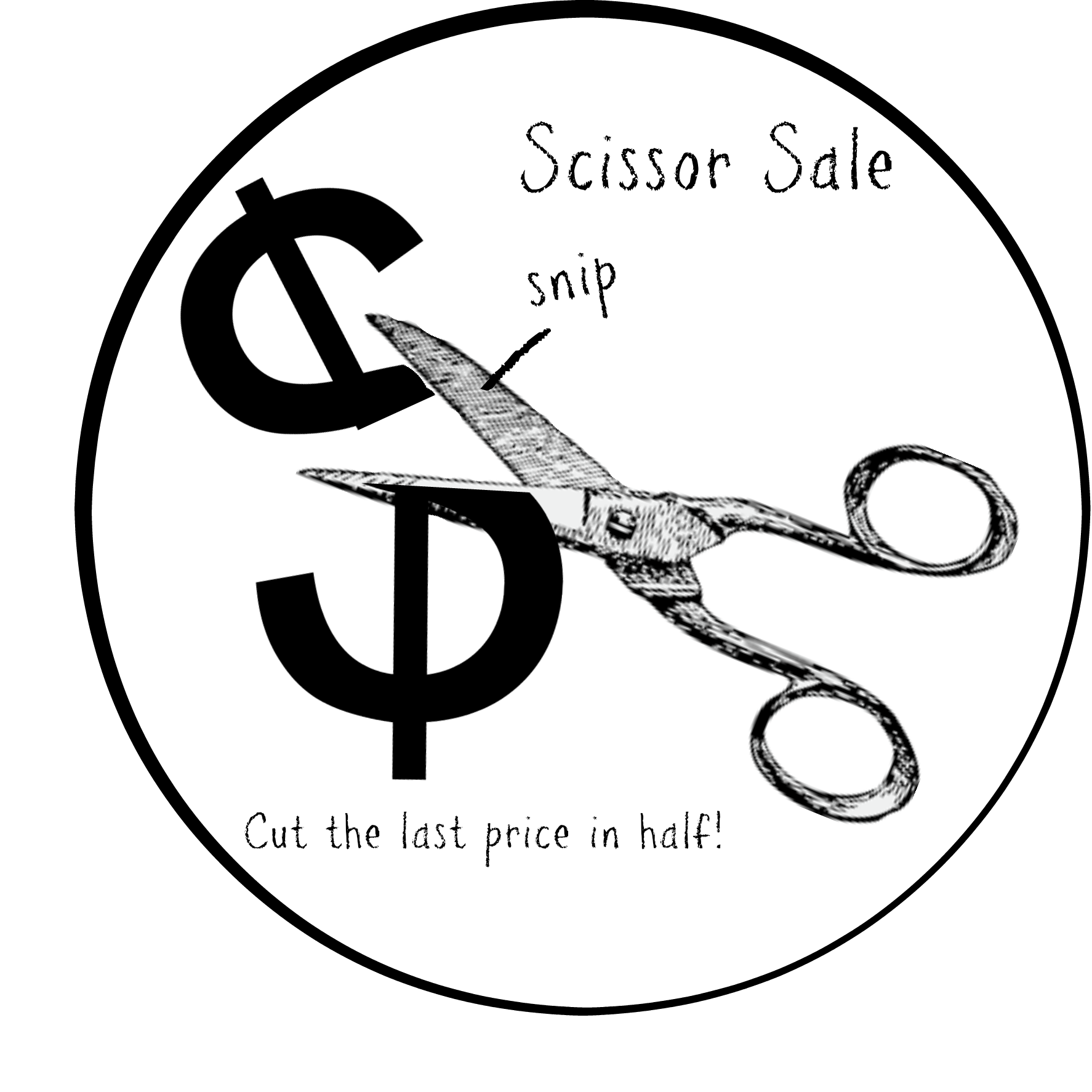 scissor sale badge